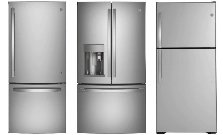 Τρία ψυγεία General Electric στη σειρά