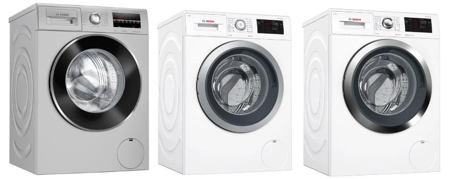 Τρία πλυντήρια Bosch στη σειρά