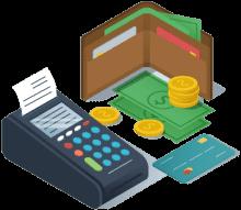 Πληρωμή με κάρτα ή μετρητά