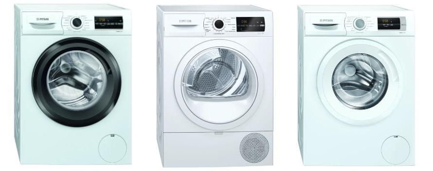 Τρία πλυντήρια Πίτσος στη σειρά