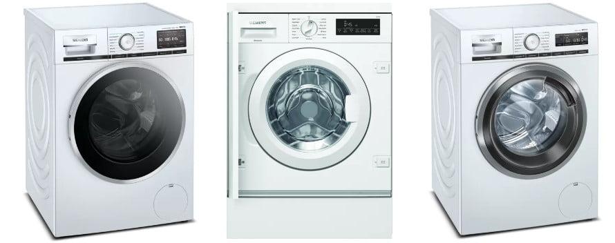 Τρία πλυντήρια Siemens στη σειρά
