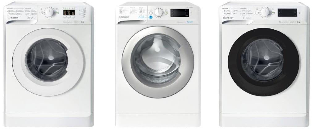 3 πλυντήρια Indesit στη σειρά